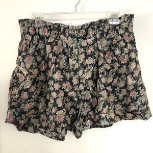 UO Staring at Stars shiny floral shorts